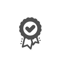 Approved award icon accepted certificate sign vector