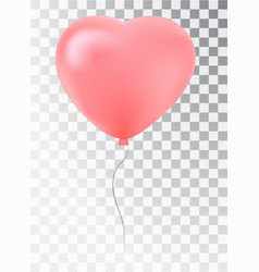 balloon as a pink heart symbol of love gift vector image