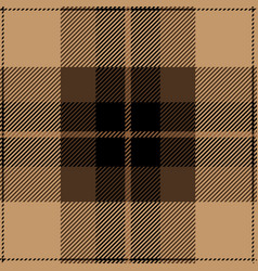 beige and black tartan plaid seamless pattern vector image