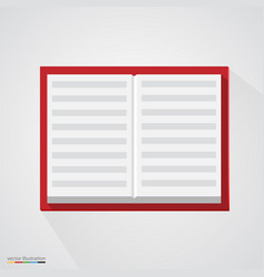 brown organizer notepad notebook vector image