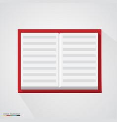 Brown organizer notepad notebook vector