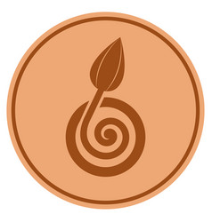bud sprout bronze coin vector image
