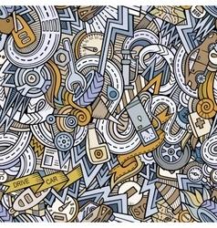 Cartoon hand-drawn doodles car style theme vector