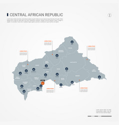 Central african republic infographic map vector