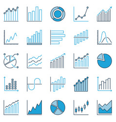 chart and graph creative icons statistics vector image