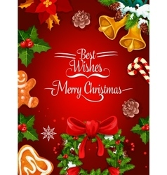 Christmas holiday poster and greeting card design vector