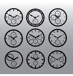 chronograph watch dials eps10 vector image