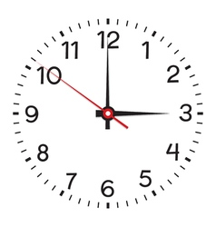 Clock face Isolated on white background vector