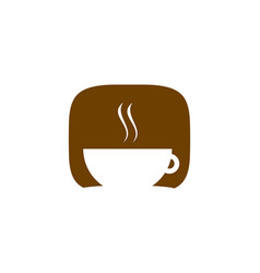coffee shop logo icon template design vector image