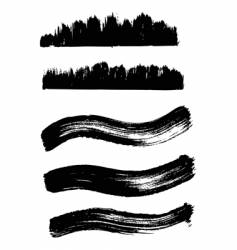 collection of wave ink elements vector image