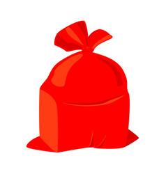 colorful cartoon santa sack vector image