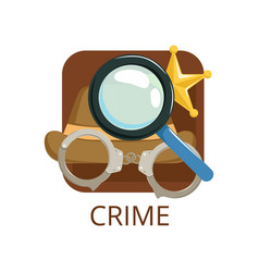 Crime cinema genre symbol for cinema theatre vector