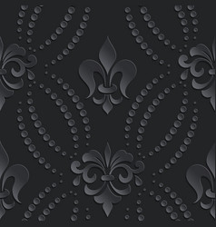 Damask seamless pattern dark element elegant vector