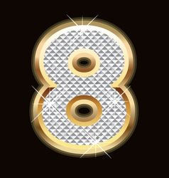 eight bling bling vector image