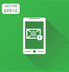 email envelope message on smartphone icon vector image