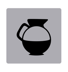 figure emblem water pitcher icon vector image