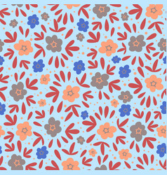floral meadow nature textile print seamless patter vector image