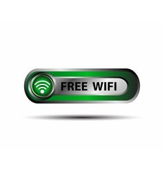Free WiFi wireless button vector image