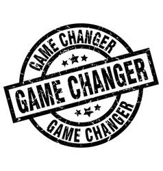 Game changer round grunge black stamp vector
