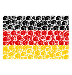 german flag collage of fist items vector image