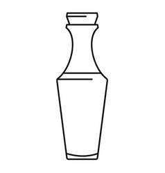 glass bottle icon outline style vector image