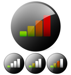 growing bar chart bar graph can be used as a vector image