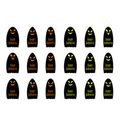 halloween ghost with inscription happy halloween vector image