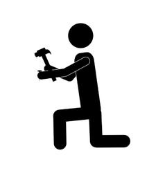 handy man or engineer icon image vector image