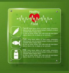 healthy food infographics layout vector image