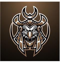 Horus head mascot logo design vector
