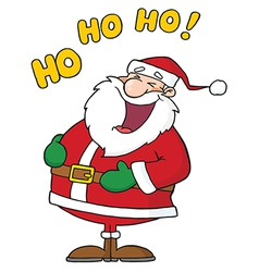 Laughing Santa Claus vector image