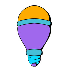 Led bulb icon cartoon vector