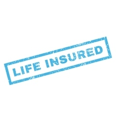 Life Insublue Rubber Stamp vector image