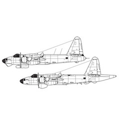 lockheed p-2 neptune p2v-7 ap-2h vector image