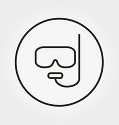 mask and snorkel for diving icon vector image
