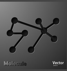 Molecules concept neurons and nervous system vector