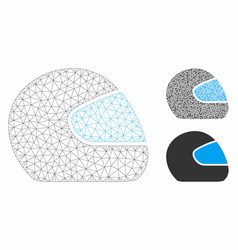 Motorcycle helmet mesh network model and vector