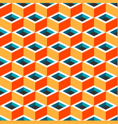multicolor geometric cubic seamless pattern vector image