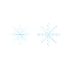 Openwork celebratory Christmas snowflakes in vector image