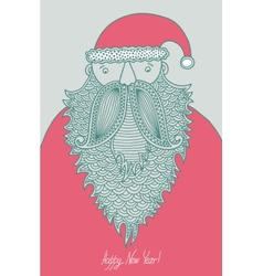 original hipster santa claus modern graphic style vector image