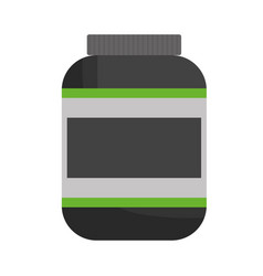 protein supplement bottle icon vector image