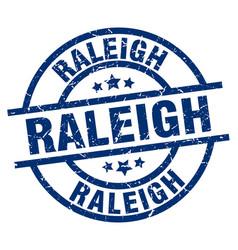 Raleigh blue round grunge stamp vector