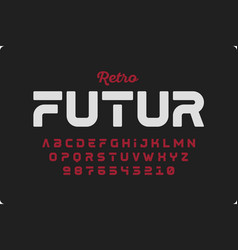 retrofuturism style font vector image