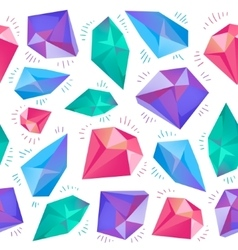 seamless colorful diamond pattern vector image
