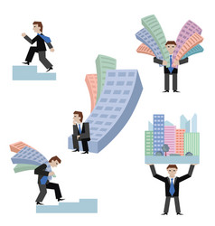 set of businessmans with vector image