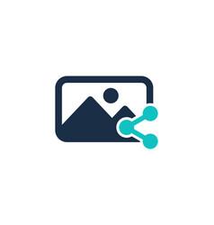 share social network logo icon design vector image