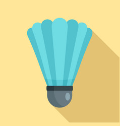 shuttle birdie equipment icon flat style vector image