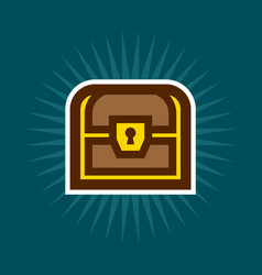 Simple treasure chest icon vector