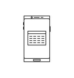 smartphone calendar icon vector image