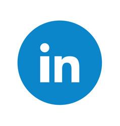 Social media symbol linkedin vector